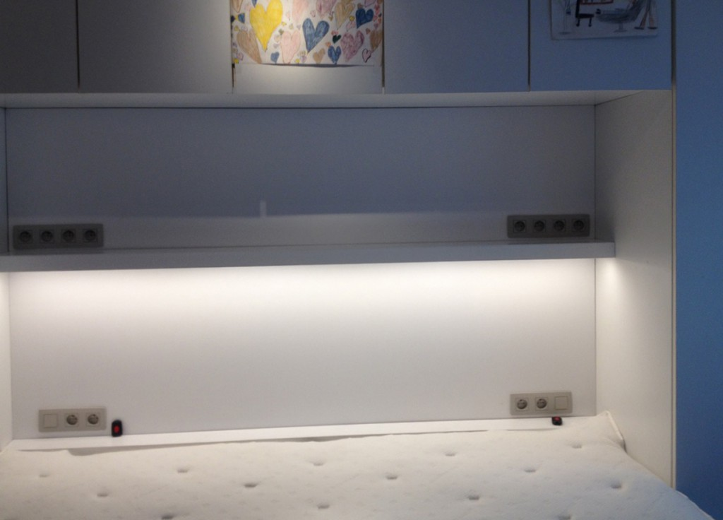Led verlichting Alkoof bed